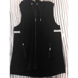 calvin klein fleece hoodie vest
